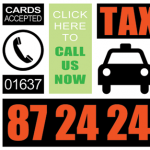 newquay taxis business card