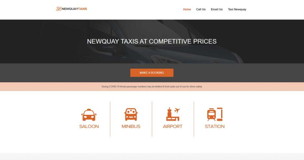 newquay taxis webapp image